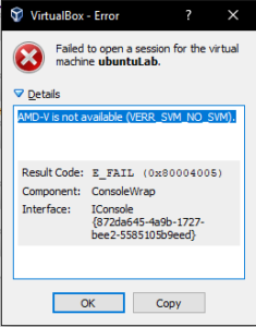 Cara Memperbaiki Error Virtualbox: AMD-V is not available (VERR_SVM_NO_SVM)